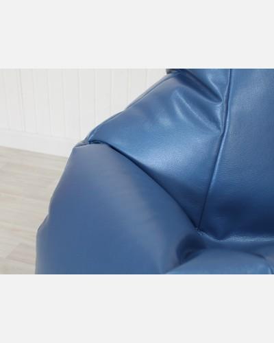 Экокожа премиум голубой