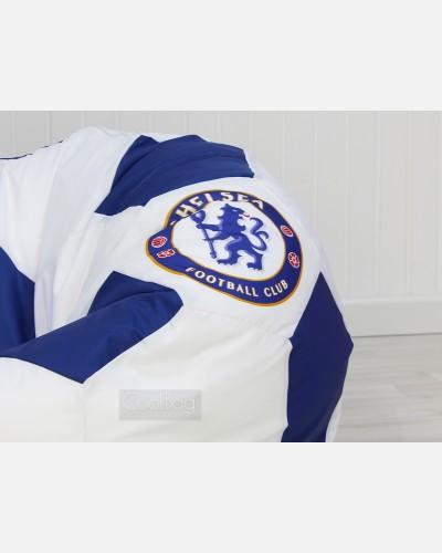 Кресло мяч бело-синее