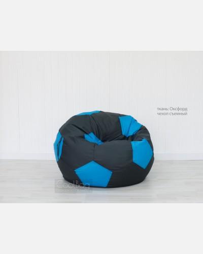 Кресло мяч графитово-голубой