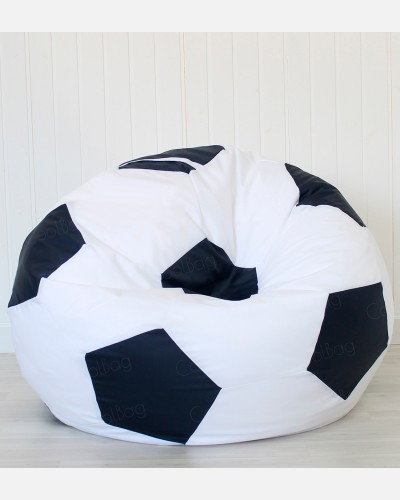 Кресло мяч бело-черный